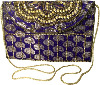 X-WELL Wedding, Party, Festive Blue  Clutch