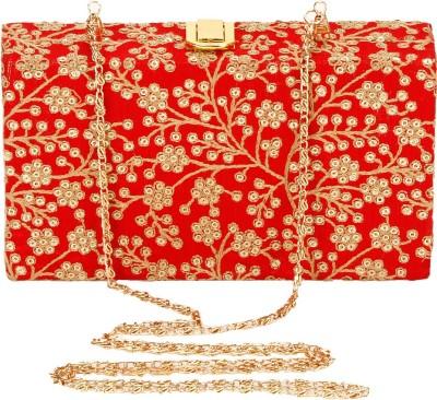 Eira Red, Gold  Clutch