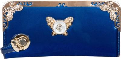 Fashion Leather Casual Blue  Clutch
