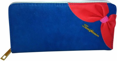 A To Z Creations Casual, Party Blue, Red  Clutch