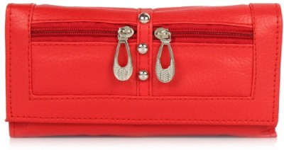 Acute Casual Red  Clutch