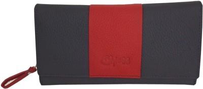 Kan Kan Black Genuine Leather Stylish Wallet For Women