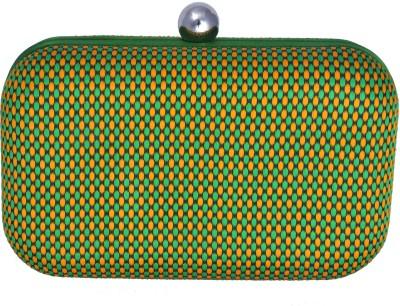 Posh Women Casual Green  Clutch