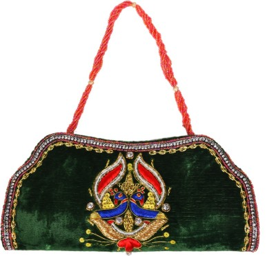 Himalaya Handicraft Wedding Green  Clutch