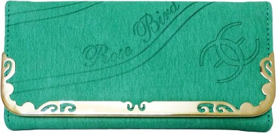 Rose Bird Casual, Party Green  Clutch