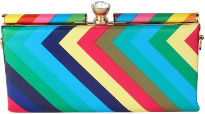 Kion Style Casual, Festive, Wedding, Party Multicolor  Clutch