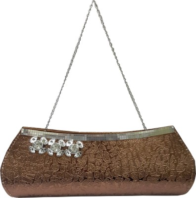 X-WELL Party, Wedding, Festive Brown  Clutch