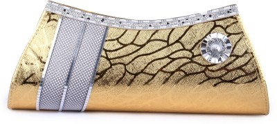 D AUSTIN KING Party, Formal Gold  Clutch