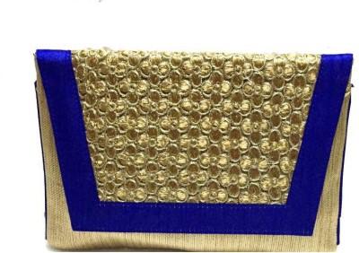 Craftbazaar Women Party Blue  Clutch