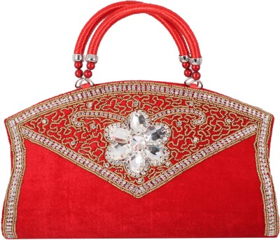 Alishaan Wedding, Party, Festive Red  Clutch