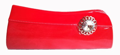 Ethnic Art Women Party Red  Clutch