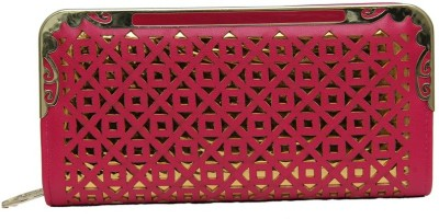 FASHION REDEFINED Pink, Gold  Clutch