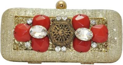 Women Trendz Women Festive Gold  Clutch