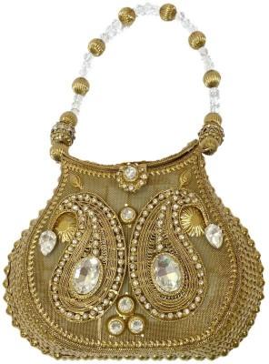 Bling It On Women Wedding Gold  Clutch