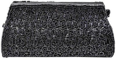 Ruhi's Creations Grey, Black  Clutch