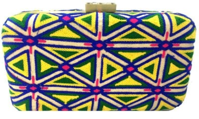 Luxury Living Party Yellow  Clutch