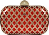 PamperVille Women Party Red  Clutch