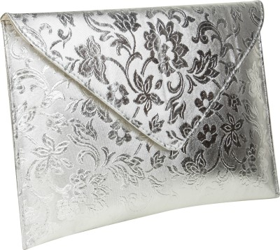 Stylistry Women Casual, Party Silver  Clutch