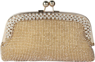 Kion Style Casual, Festive, Wedding, Party Gold  Clutch