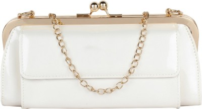 Cocktail Casual White  Clutch