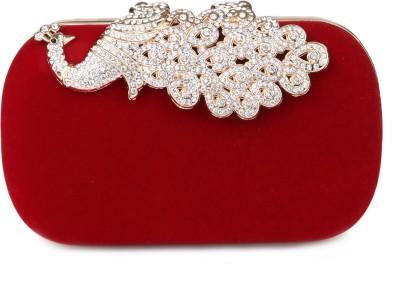 Kleio Girls, Women Formal, Wedding, Party Red  Clutch
