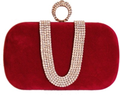 Chicastic Women Wedding Red Clutch