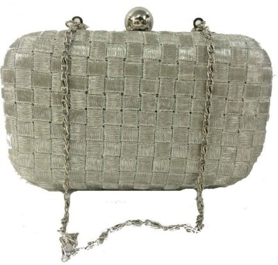 Luxury Living Party Silver  Clutch