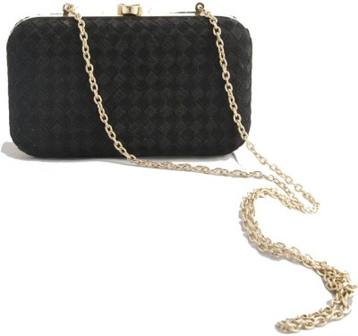 The Creative Hub Women Party Black  Clutch