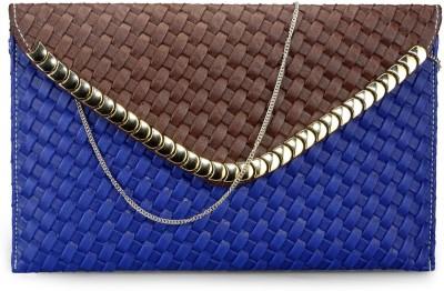 Bags Craze Women Festive, Wedding, Casual Blue, Brown  Clutch