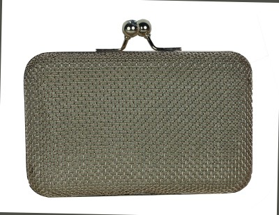 Shoebox Women Party Silver  Clutch