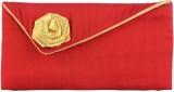 Avni Women Festive, Wedding Red  Clutch