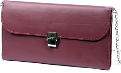 NAAZ BAGS COLLECTION Maroon  Clutch