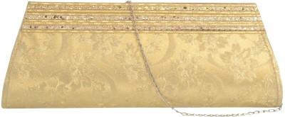 Prajo Casual Gold  Clutch