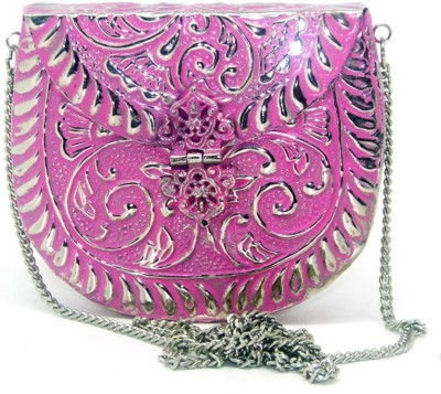 Uptown Laila Women Party Pink  Clutch