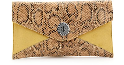 Elligator Women Party Yellow  Clutch