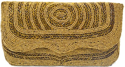 Mpkart Girls Casual, Festive, Party Gold  Clutch