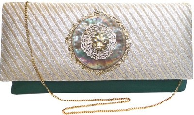 Bhamini Party Green  Clutch