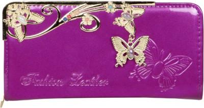 Fashion Leather Casual Purple  Clutch