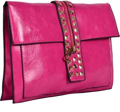 Zizelle Women Casual Pink  Clutch