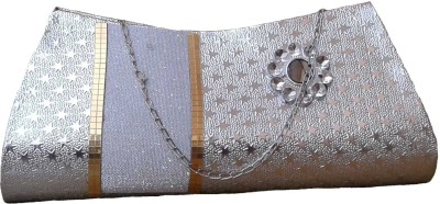 Goldeno Party Silver  Clutch