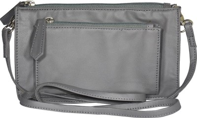 Famous by Payal Kapoor Casual Grey  Clutch