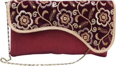 Laviva Casual, Party Maroon  Clutch