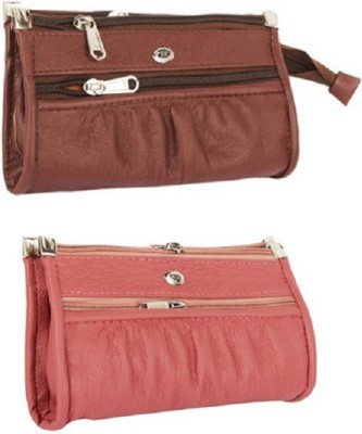 JMD Wedding, Casual, Party, Formal, Sports, Festive Pink, Brown  Clutch