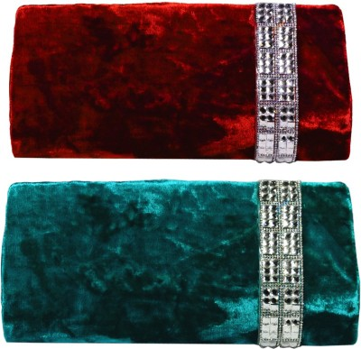 Arisha kreation Co Women Party Red, Blue  Clutch