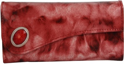 Evelyn Red  Clutch