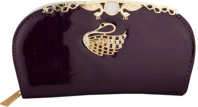 Aliza Women Casual Purple  Clutch