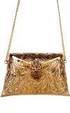 Urban Stitch Women Gold  Clutch