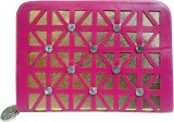 Sanshul Women Party Pink, Gold  Clutch
