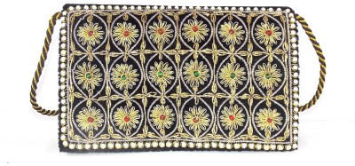 Himalaya Handicraft Women Formal Black  Clutch