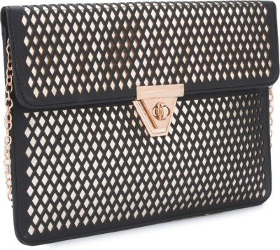 Carlton London Women Black, Gold  Clutch